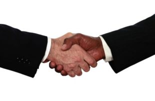 commission only sales reps shaking hands