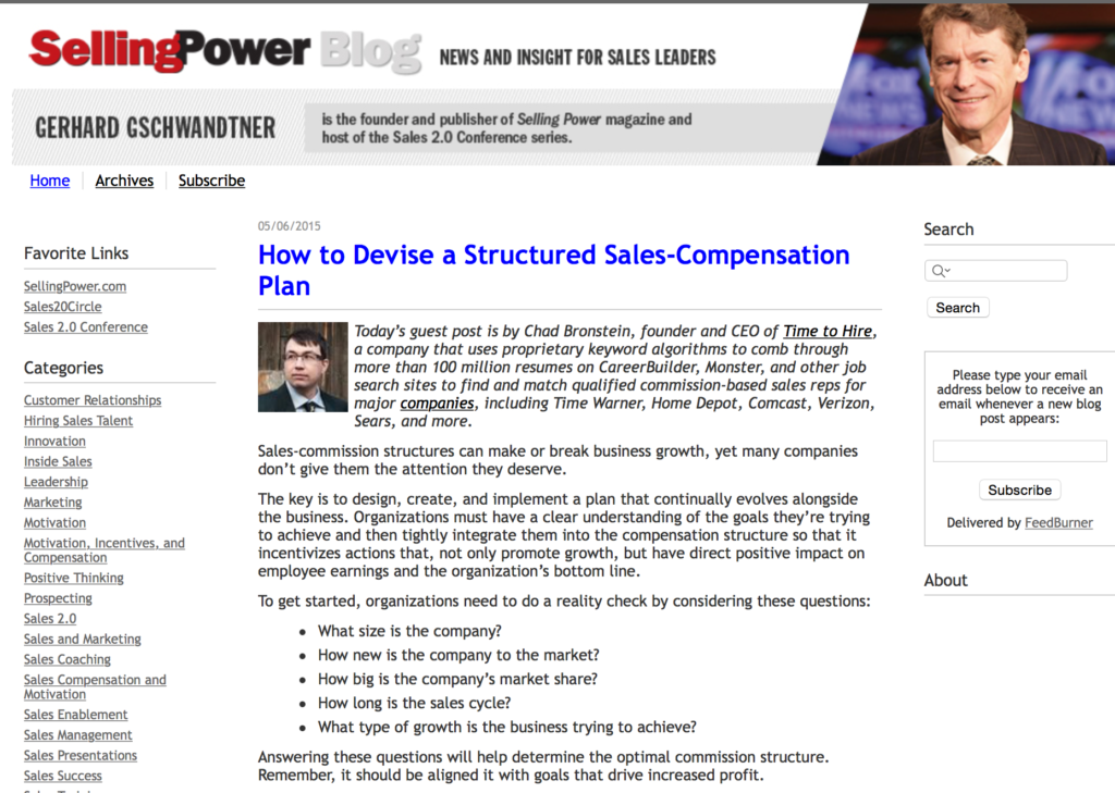 How to Structure a Sales Compensation Plan